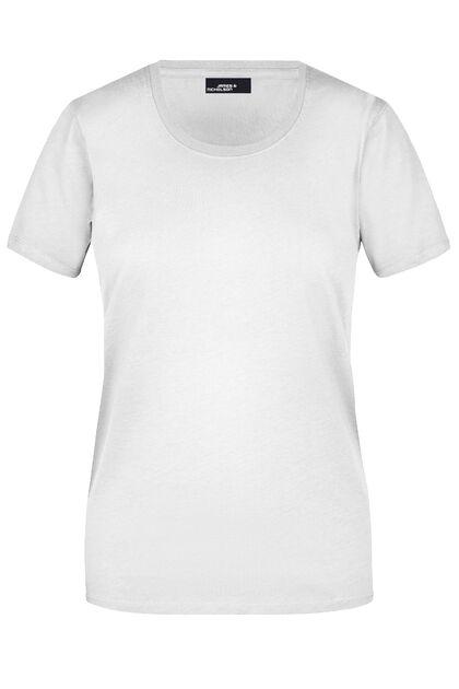 Бяла дамска тениска от 100% памук С639-3