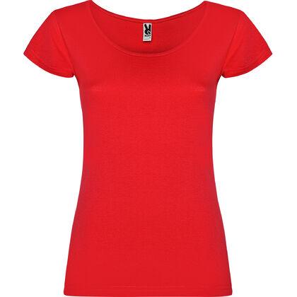 Червена тениска с широко деколте С1155-4