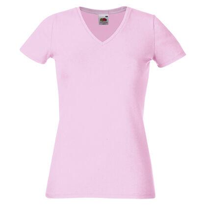 Розова дамска тениска с остро деколте С368-3