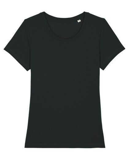 Елегантна черна тениска от Био памук С1135-2