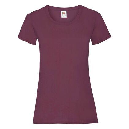 Памучна дамска тениска в цвят бургунди С25-20