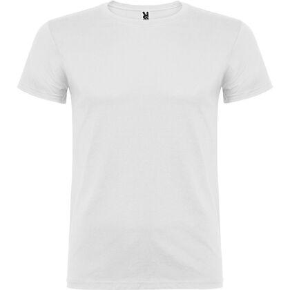 Бяла мъжка тениска от памук С1166-2