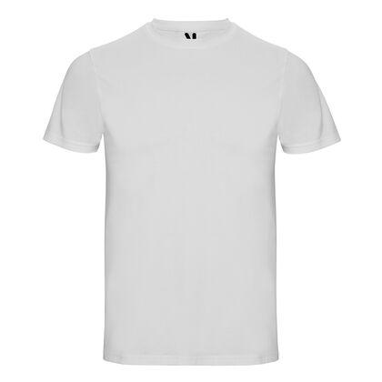 Мъжка бяла тениска с ликра С1418-2