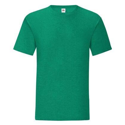 Мъжка тениска в зелен меланж С1755-7