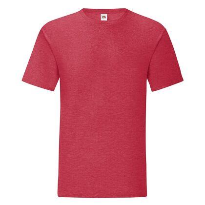 Мъжка тениска в червен меланж С1755-8
