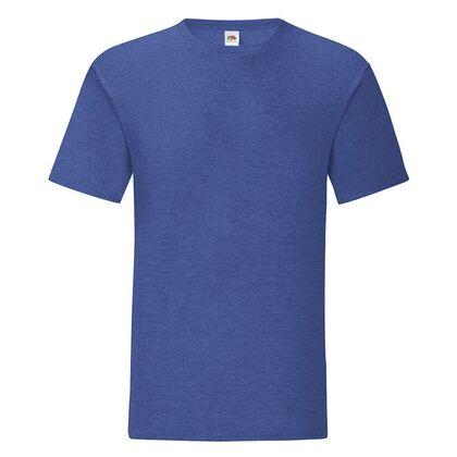 Мъжка тениска в цвят син меланж С1755-11