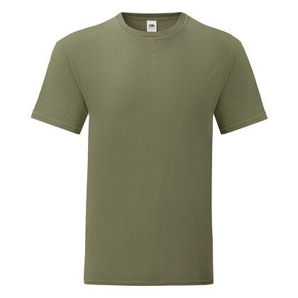 Мъжка тениска в цвят олива С1755-14