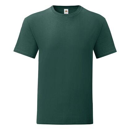 Мъжка тениска в цвят горско зелено С1755-15