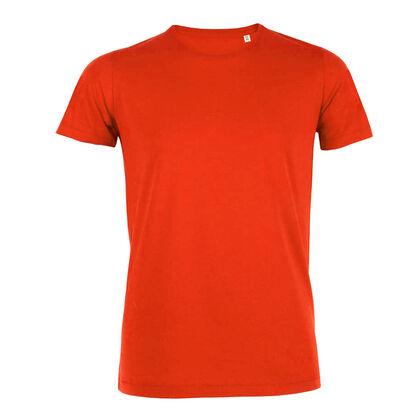 Мъжка вталена тениска в оранжево В187-2
