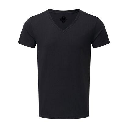 Стилна мъжка тениска в черно С65-4