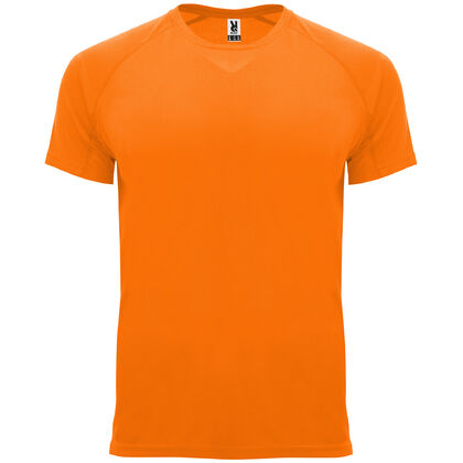Неоново оранжева мъжка тениска С1735-3
