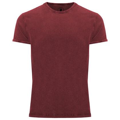 Мъжка елегантна тениска в цвят бордо С1770-2