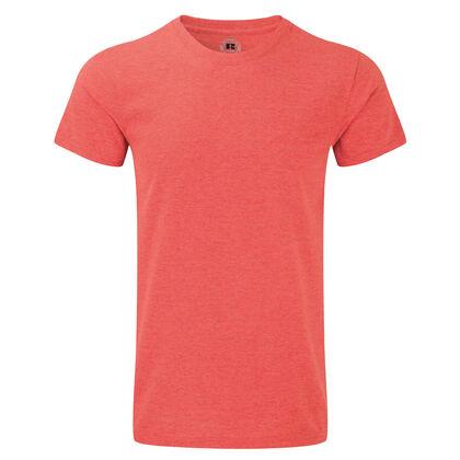Тениска за мъже в червен меланж С465-7