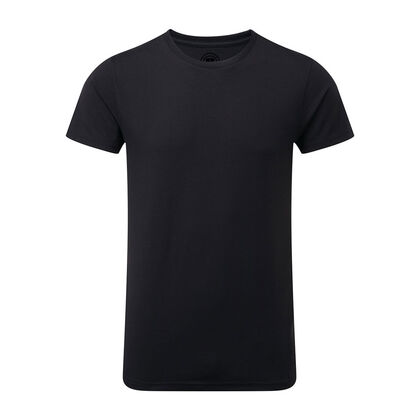 Стилна мъжка тениска в черно С465-9