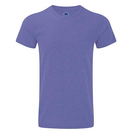 Мъжка тениска в лилав меланж С465-10
