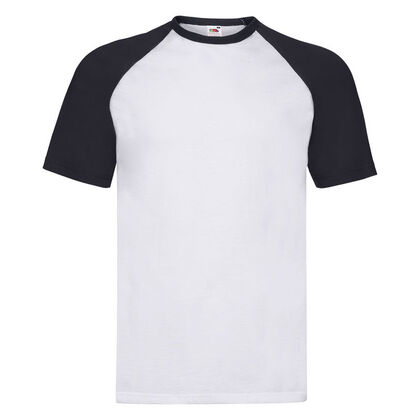 Бяла мъжка тениска с черни ръкави С23-2