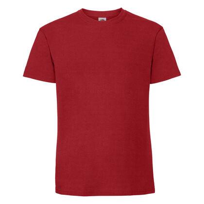 Супер мека тениска в червено С586-8