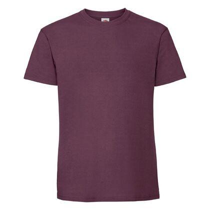 Супер мека тениска в цвят бургунди С586-10