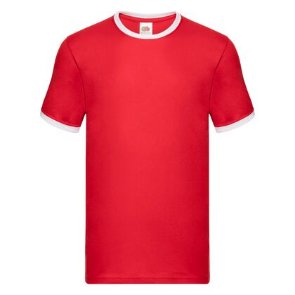 Мъжка тениска в червено и бяло С24-8