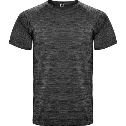 Меланжирана тениска в тъмно сиво С1482-2