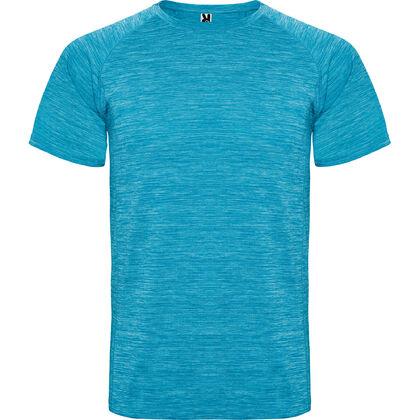 Меланжирана тениска в цвят тюркоаз С1482-4