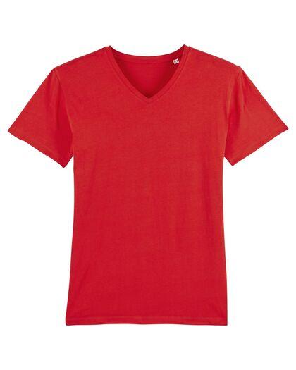 Червена тениска с остро деколте С1250-2